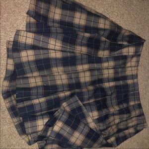 Pleated school girl skirt
